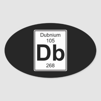 DB - Dubnium Pegatina Ovalada