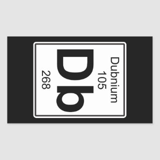 DB - Dubnium Pegatina Rectangular
