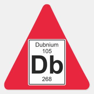 DB - Dubnium Pegatina Triangular