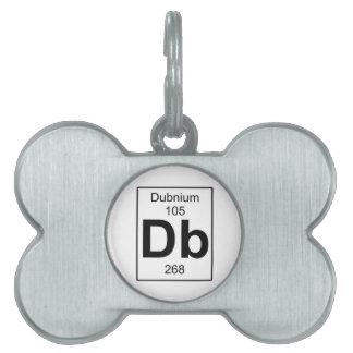 DB - Dubnium Placa Mascota