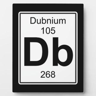 Db - Dubnium Plaque