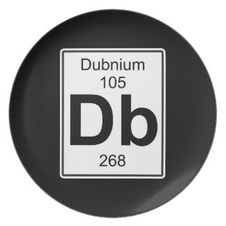 DB - Dubnium Plato De Cena