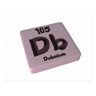 Db Dubnium Postcard