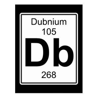 Db - Dubnium Postcard