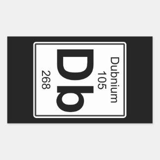 Db - Dubnium Rectangular Sticker