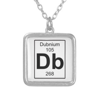 Db - Dubnium Silver Plated Necklace
