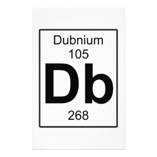 Db - Dubnium Stationery