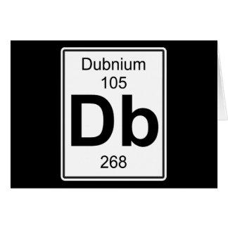 DB - Dubnium Tarjeta De Felicitación