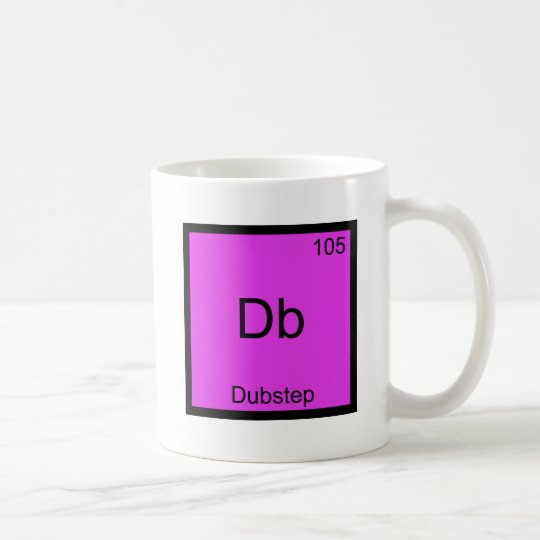 Db - Dubstep Chemistry Element Symbol Funny Music Coffee Mug