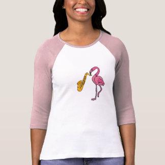 DB- Flamingo Playing the Sax Shirt