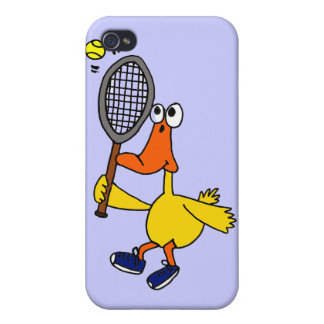 DB- Funny Duck Playing Tennis Case For iPhone 4