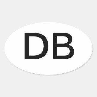 DB OVAL STICKER