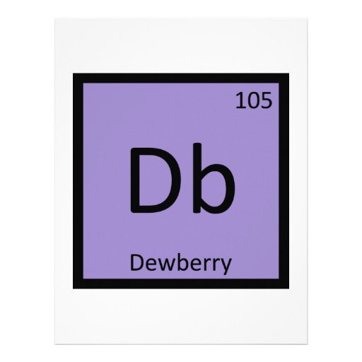 DB - Símbolo de la tabla periódica de la química d Membrete A Diseño