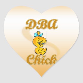 DBA Chick Heart Sticker