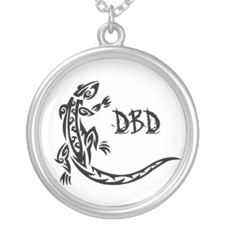 DBD Lizard chain Silver Plated Necklace