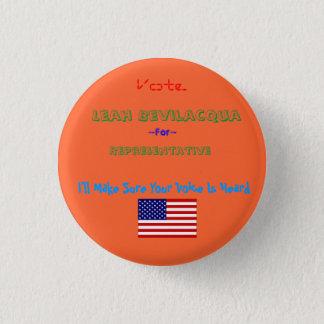 dbi_flag_usa[1], Representative, Leah Bevilacqu... Button