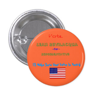 dbi_flag_usa[1], Representative, Leah Bevilacqu... 1 Inch Round Button