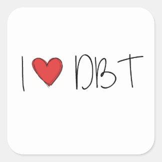 DBT - I LOVE DBT SQUARE STICKER