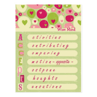 "DBT Wise Mind ""accepts"" Post Cards"