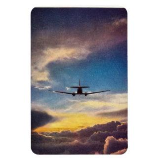 DC-3 Airliner & Setting Sun magnet