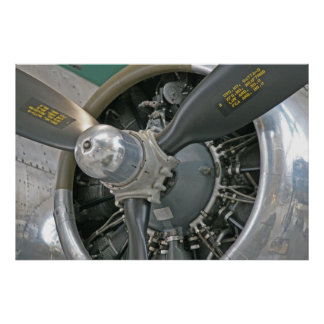DC-3 Engine Poster