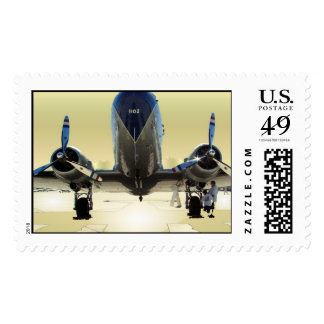 DC-3 Head on Postage Stamp