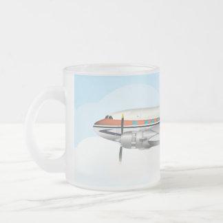 DC-3 10 OZ FROSTED GLASS COFFEE MUG