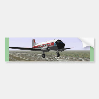 DC-3 Take-Off Bumper Sticker