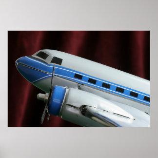 DC-3 Vintage Airplane Print