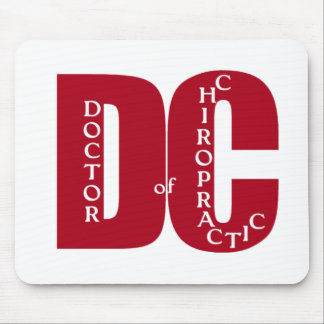 DC Big Red DOCTOR OF CHIROPRACTIC MEDICINE Mouse Pad
