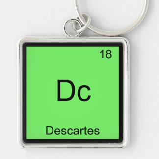 DC - camiseta divertida del símbolo de la química Llaveros Personalizados