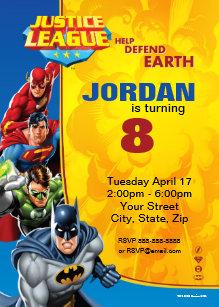 Justice league invitations zazzle dc comics justice league birthday invitation stopboris Images