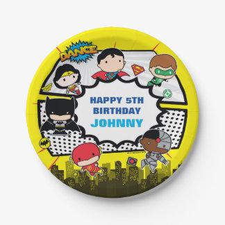 DC Comics | Justice League - Chibi Birthday Paper Plate