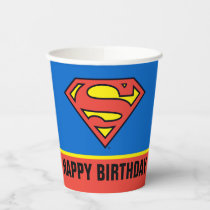 DC Comics | Superman Classic Logo - Birthday Paper Cups
