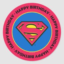 DC Comics | Superman | Classic Logo Classic Round Sticker
