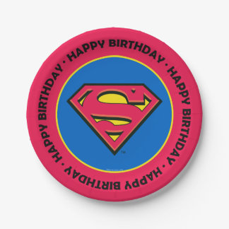 DC Comics | Superman | Classic Logo Paper Plate