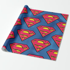 Dc Comics | Superman | Classic Logo Wrapping Paper at Zazzle