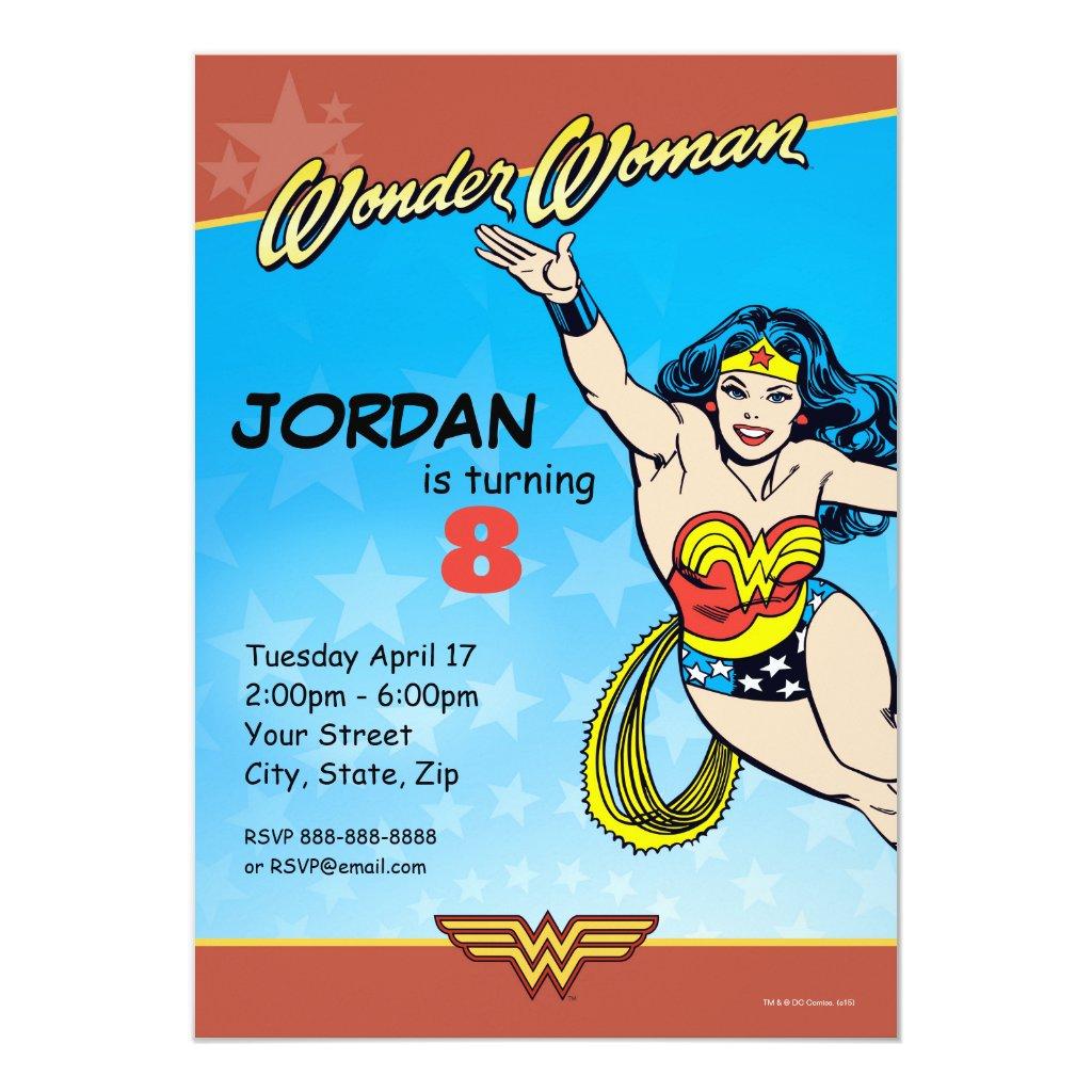 DC Comics   Wonder Woman Birthday Invitation