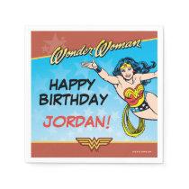 DC Comics   Wonder Woman Birthday Napkins