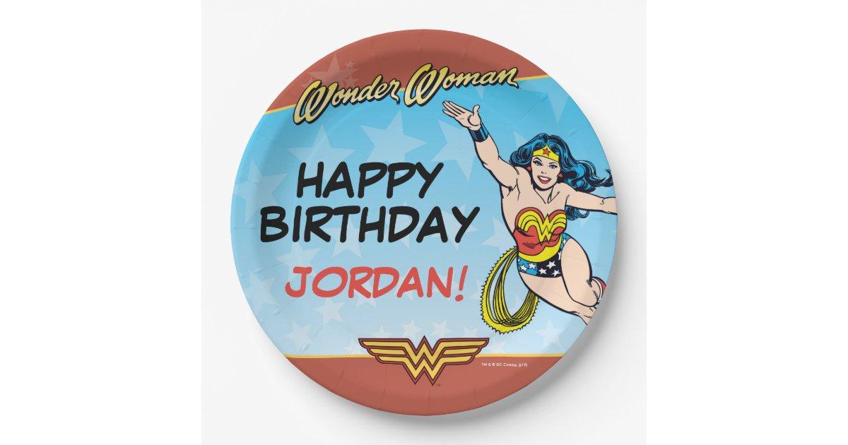 Dc Comics Wonder Woman Birthday Paper Plate
