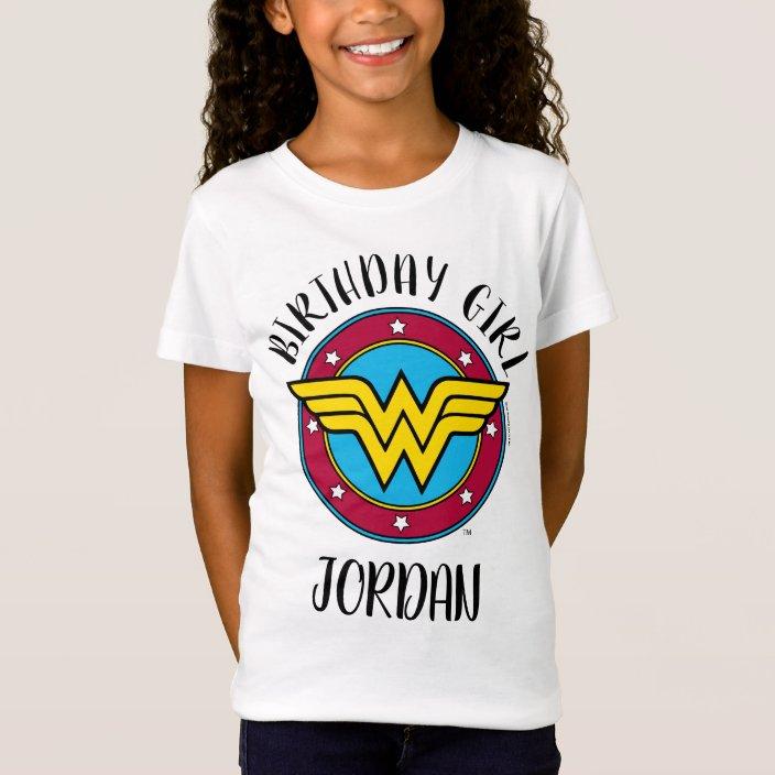 Wonder Woman Birthday Tshirt Wonder Woman Camisa de cumplea\u00f1os