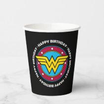 DC Comics   Wonder Woman Circle & Stars Birthday  Paper Cups