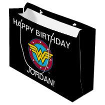 DC Comics   Wonder Woman Circle & Stars Logo Large Gift Bag