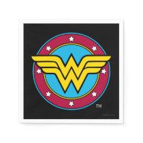 DC Comics   Wonder Woman Circle & Stars Logo Paper Napkins