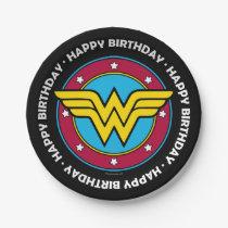 DC Comics | Wonder Woman Circle & Stars Logo Paper Plate