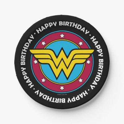 DC Comics Wonder Woman Birthday Paper Plate Zazzlecom