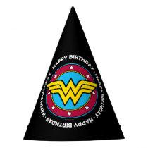 DC Comics   Wonder Woman Circle & Stars Logo Party Hat