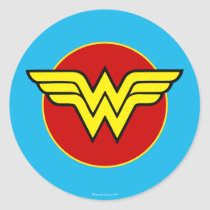 DC Comics | Wonder Woman Logo | Happy Birthday Classic Round Sticker