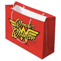 DC Comics   Wonder Woman Logo   Happy Birthday Large Gift Bag