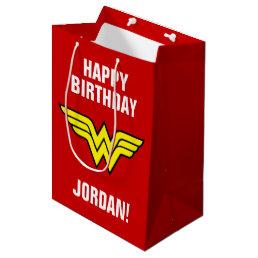 DC Comics   Wonder Woman Logo   Happy Birthday Medium Gift Bag